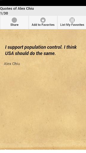 Quotes of Alex Chiu