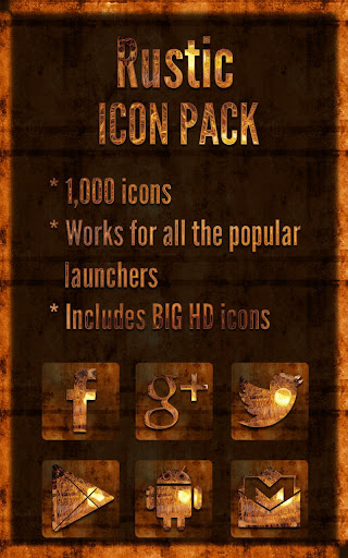Rustic - Icon Pack