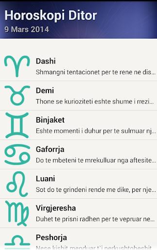 Horoskopi shqip