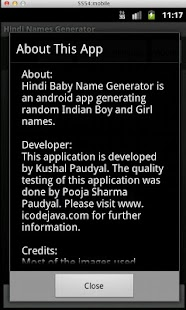 Hindi Baby Name Generator- screenshot thumbnail
