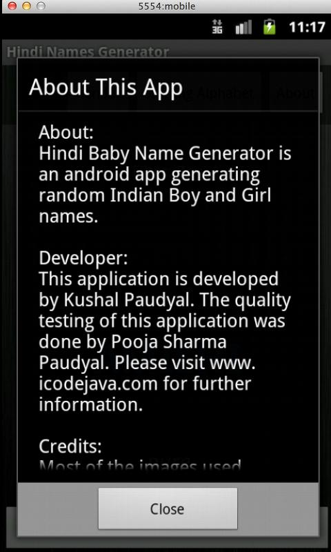 Hindi Baby Name Generator- screenshot