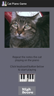 Cat Piano Memory Game - náhled