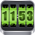 3D Rolling Clock GREEN icon