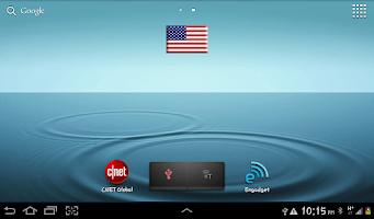 Screenshot of US Flag Widget