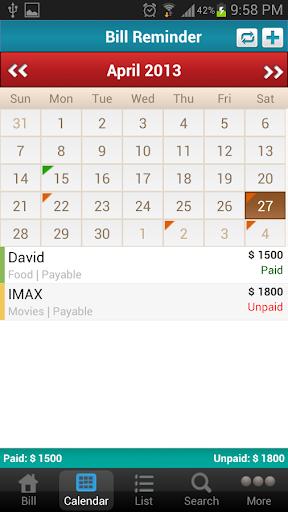【免費商業App】Bill Reminder Expense Tracker-APP點子