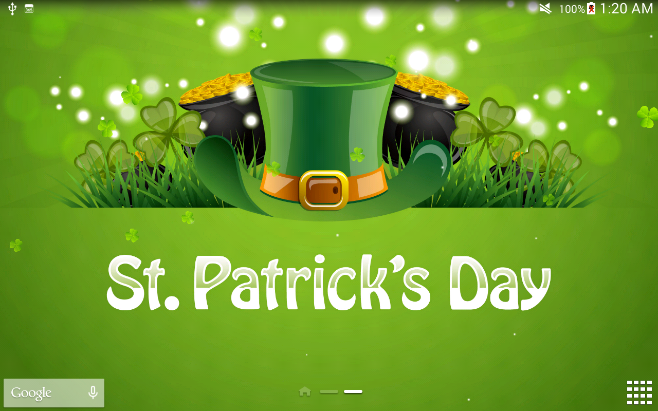 Touching words St patrick s day question