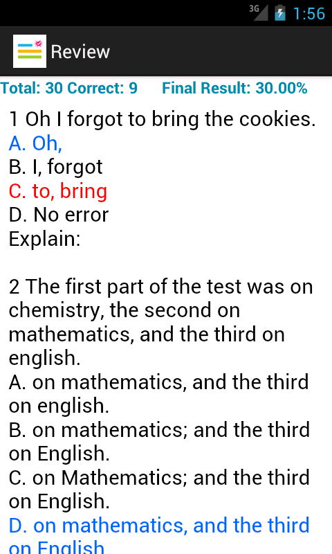 Question: GED test requirements?