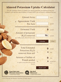 Almond Potassium Calculator- screenshot thumbnail