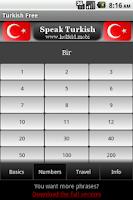 Screenshot of Speak Turkish Free