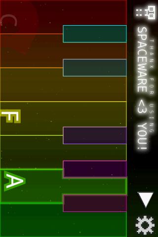 Space Piano- screenshot