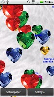 Screenshot of Gem Hearts Live Wallpaper