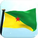 French Guiana Flag 3D Free icon