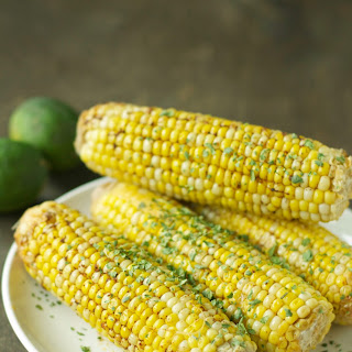 Crockpot Corn on the Cob with Chili Lime Butter.