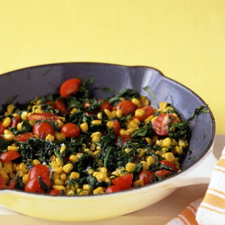 Spinach with Corn and Tomatoes.