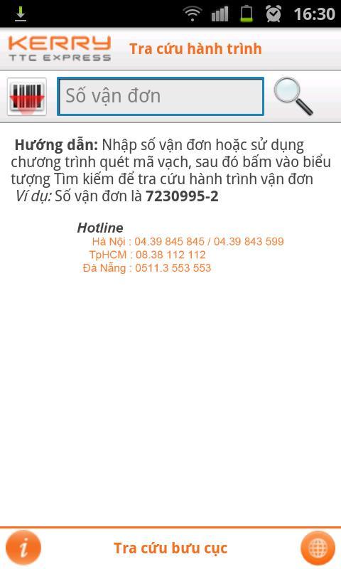 Kerry TTC - Tra cứu hành trình - screenshot