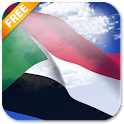 3D Sudan Flag Live Wallpaper
