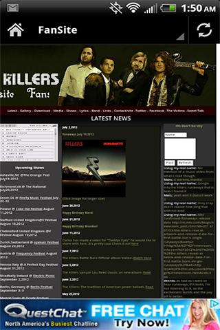 The Killers News Videos Music - screenshot