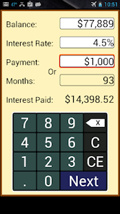 Payoff Calculator - screenshot thumbnail