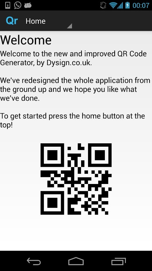 Qr code generator ad free android apps on google play qr code generator ad free screenshot sciox Choice Image