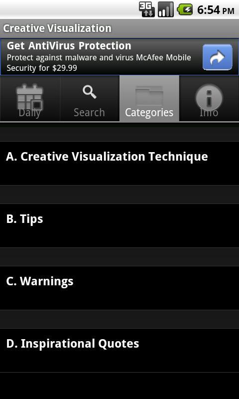 Creative Visualization- screenshot