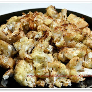 Baked Cauliflower with Parmesan Cheese.