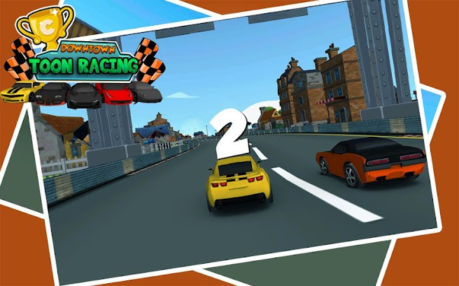 Downtown Car Toon Racing- screenshot thumbnail