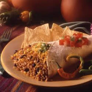 Brown Rice Black Bean Burrito.