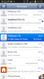 GO SMS iPhone (iOS) Tema - screenshot thumbnail