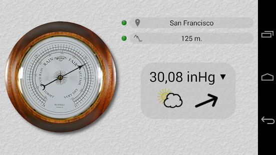 Accurate barometer android apps on google play for Barometric pressure app for fishing