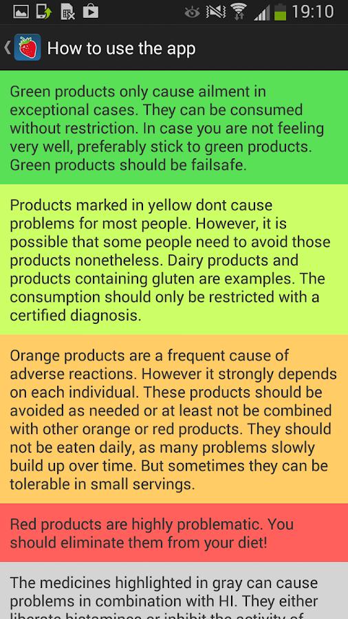 Food Intolerances - screenshot
