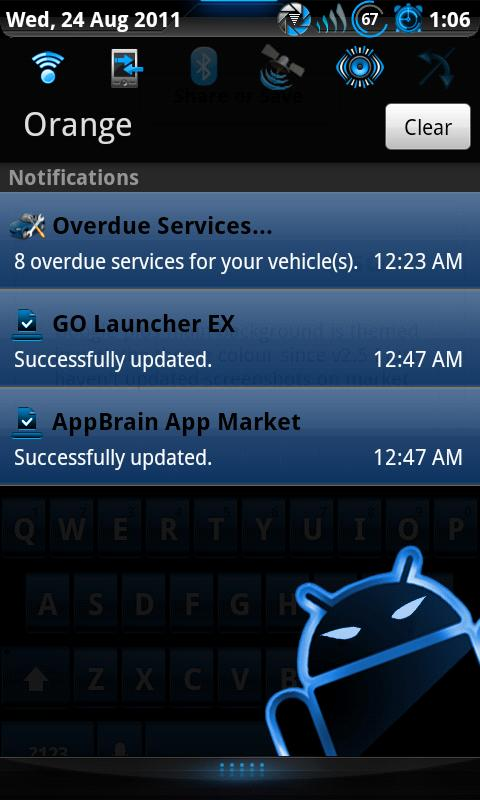 Steel Blue Theme for CM7- screenshot