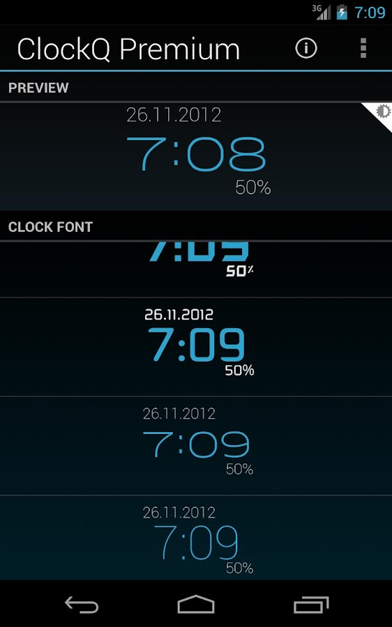 ClockQ Premium - screenshot