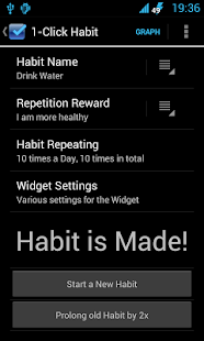 1-Click Habit Widget - screenshot thumbnail