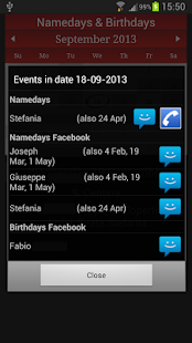 Namedays and Birthdays- screenshot thumbnail