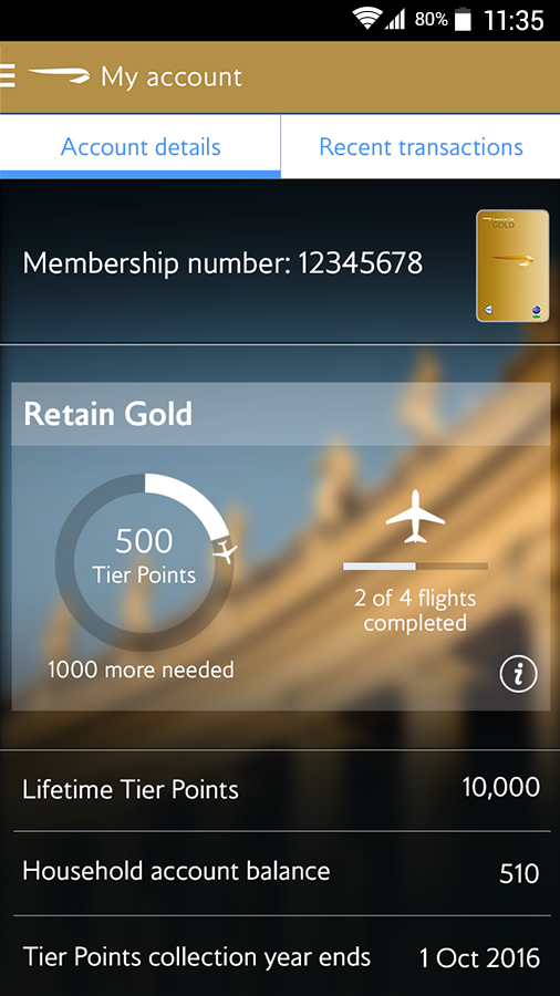 British Airways - screenshot
