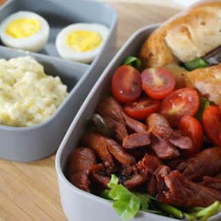 Sausage and Bagel Salad Bento