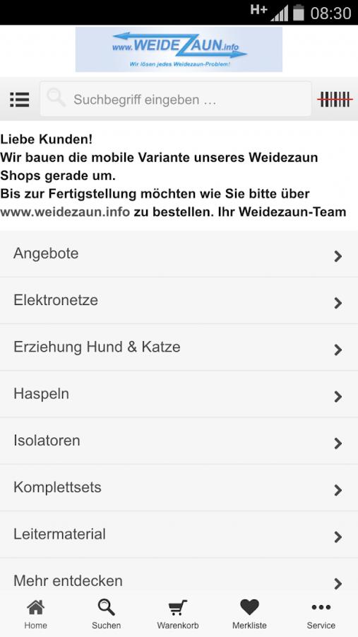 weidezaun.info Shop - screenshot