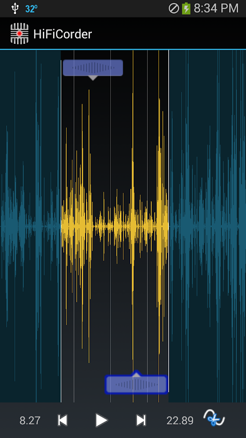HiFiCorder Audio Record Edit - screenshot