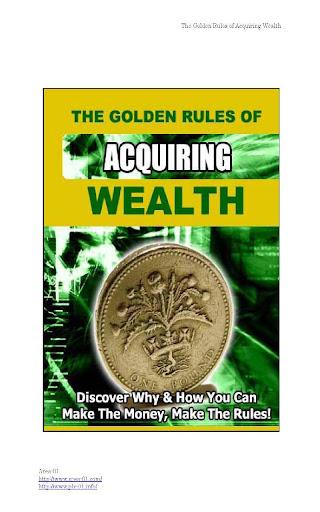 富を得るための黄金の法則
