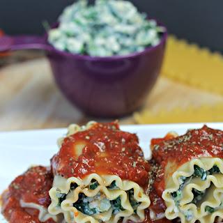 Spinach Artichoke Lasagna Rollups