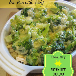Healthy Brown Rice Broccoli Chicken Cheese Bake.