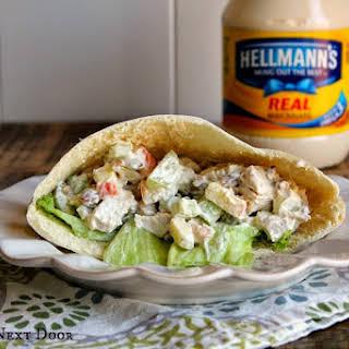Creamy Turkey Salad Pita Sandwiches.