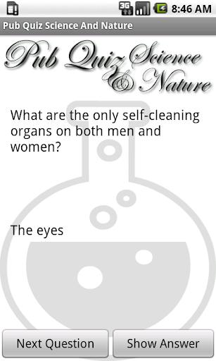 Pub Quiz Science Nature Free