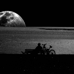Moon by Florindo Silva - Black & White Landscapes (  )