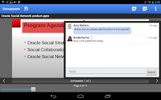 Screenshot of Oracle Social Network