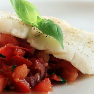 Slow Cooker Halibut with Tomato Lime Tapenade