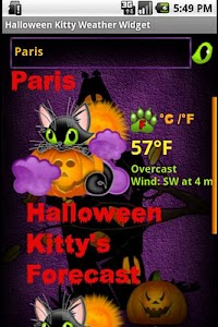 Halloween Weather Widget screenshot 2