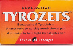Tyrozets Dual Action Throat Lozenges - 24 Pack