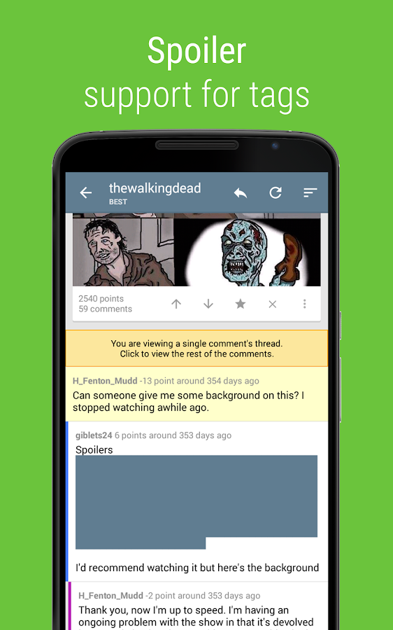 Sync for reddit- screenshot