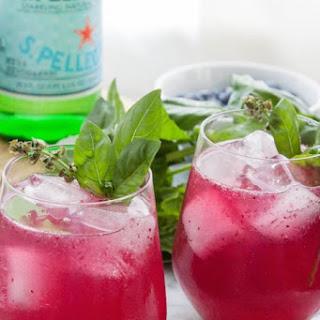 Blueberry Basil Spritzer.